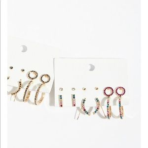 Free people everyday rhinestone hoop earring